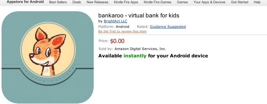 App – bankaroo :: virtual bank for kids